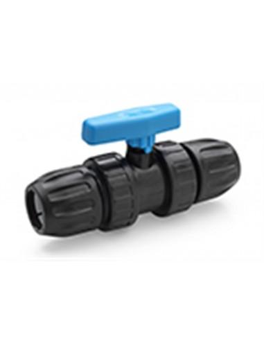 Kogelkraan PVC met 25mm PE koppeling